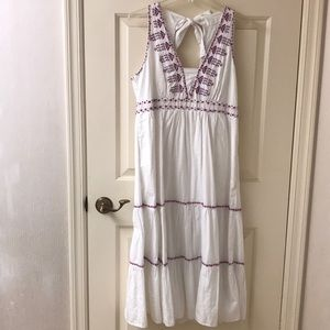 Anthropologie maxi dress with tie back.